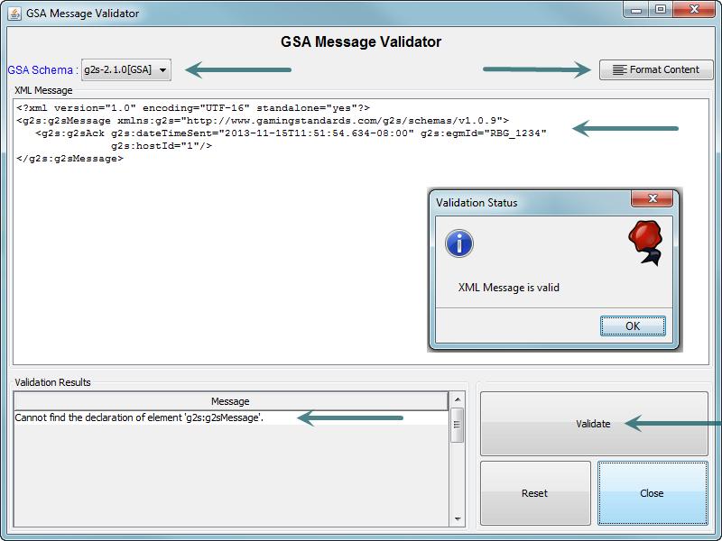 GSA Validator Screen